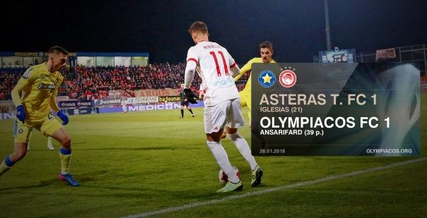 Αστέρας Τρίπολης – Ολυμπιακός 1-1