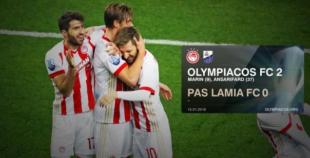 Εύκολα και χαλαρά 2-0 την Λαμία και κορυφή ο Ολυμπιακός μας!!!
