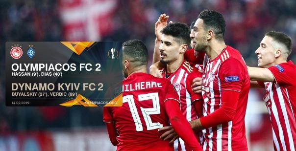 Ισοπαλία 2-2 ο Ολυμπιακός με την Ντιναμό