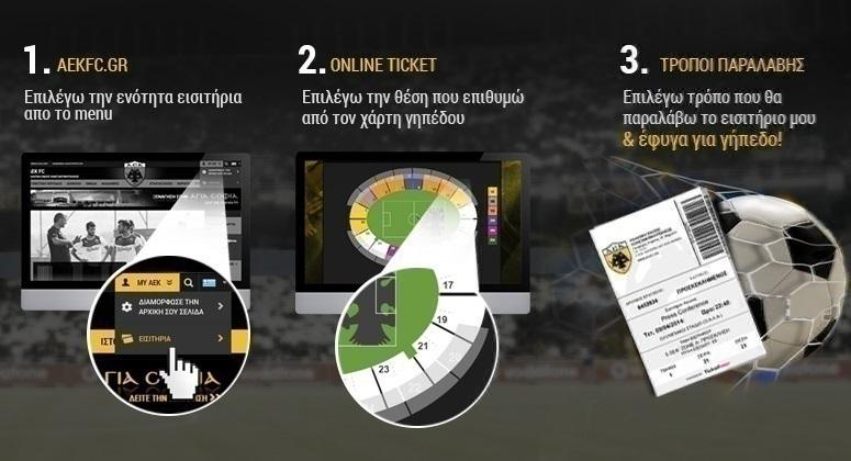 ΑΕΚ: Τα εισιτήρια των αγώνων με Παναιτωλικό, Λαμία και ΑΕΛ