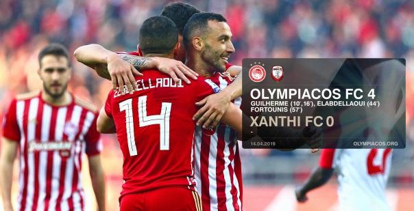 Ισοπέδωσε και την Ξάνθη ο Ολυμπιακός με 4-0!!!