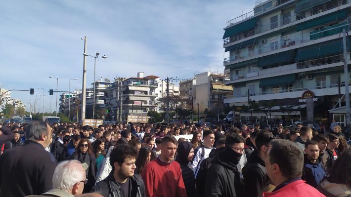 Μαθητική Διαδήλωση στο Γαλάτσι κατά του νέου νομοσχεδίου του Υπουργείου Παιδείας!