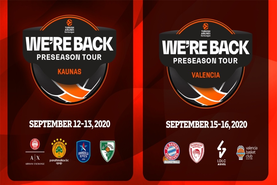 Επιστροφή της Euroleague τον Σεπτέμβριο με Pre-Season τουρνουά