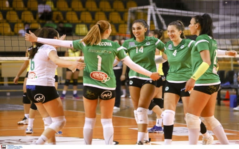 Volley League γυναικών: Πρώτο τρίποντο για Παναθηναϊκό, συνέχισαν με νίκες ΠΑΟΚ και ΑΕΚ